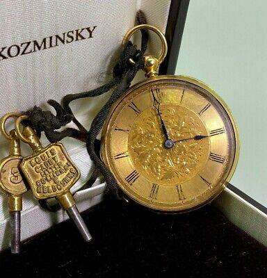 Fine & Rare 18K Gold Open Face Pocket Watch made by Sir John Bennett, circa 1861