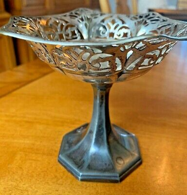 Vtg Wallace Bros Silver Co Silver Plated Articulated Compote Dish V2546 -