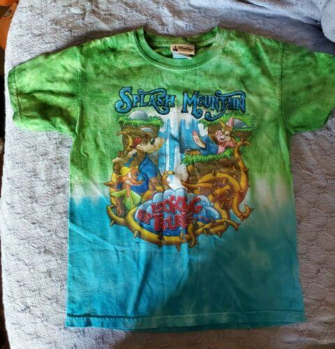 Vintage Disney World Kids Splash Mountain Tie Dye Shirt Sz Small 100% Cotton