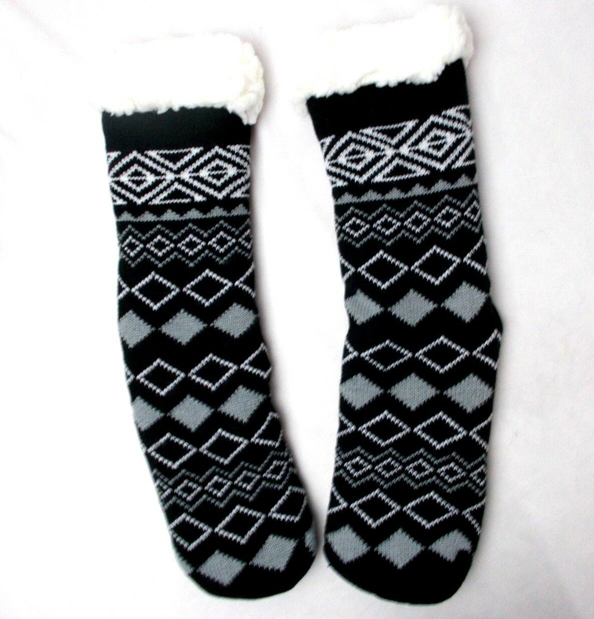 Charter Club Women's House Slipper Socks with grippers Print