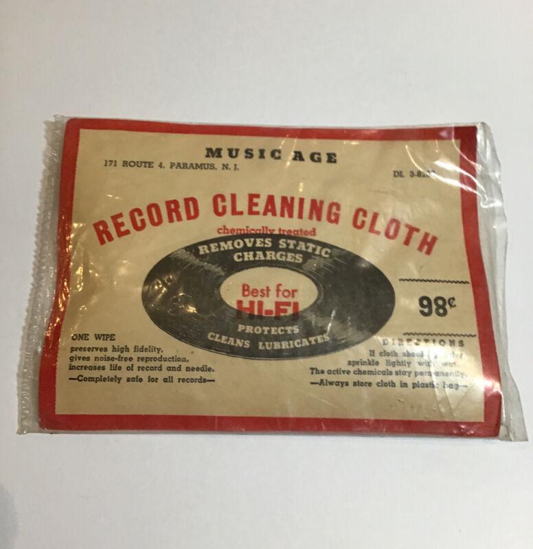 Duotone Electro Wipe Record Album Vinyl LP Cleaning Cloth UNUSED 1950s Vintage