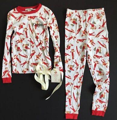 Kids Elf Pajamas (POTTERY BARN KIDS ELF ON THE SHELF COTTON PAJAMAS *COLDEN* SIZE 6 NEW)