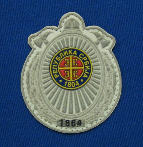 SERBIA FIREFIGHTING FIRE DEPARTMENT VISOR CAP BADGE-PATCH
