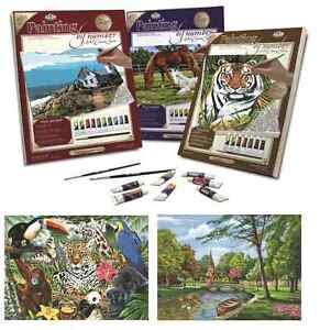 18-DESIGNS-OF-STRETCHED-BOX-CANVAS-PAINT-BY-NUMBERS-ARTIST-ACRYLIC-PAINTING-KITS