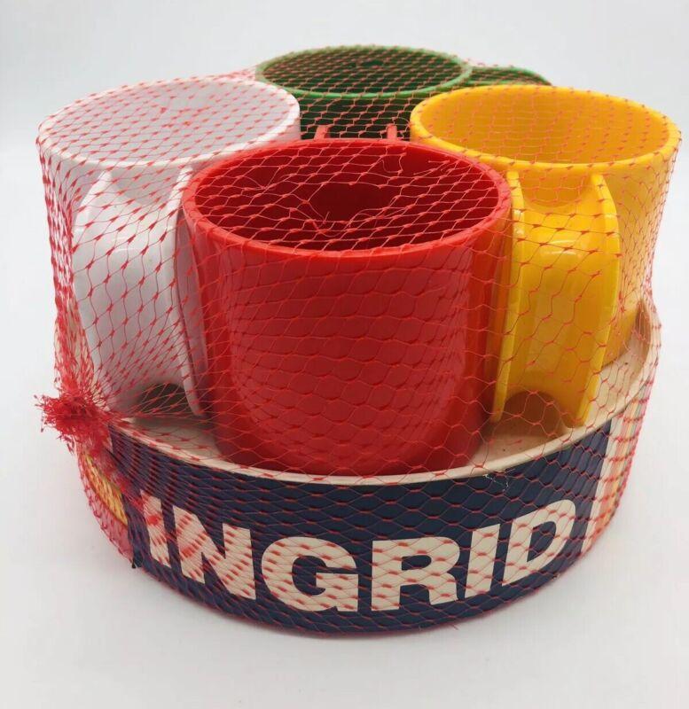 Vintage Ingrid Of Chicago Mini Snack Set Four Mugs 4 Plates Mid Century New