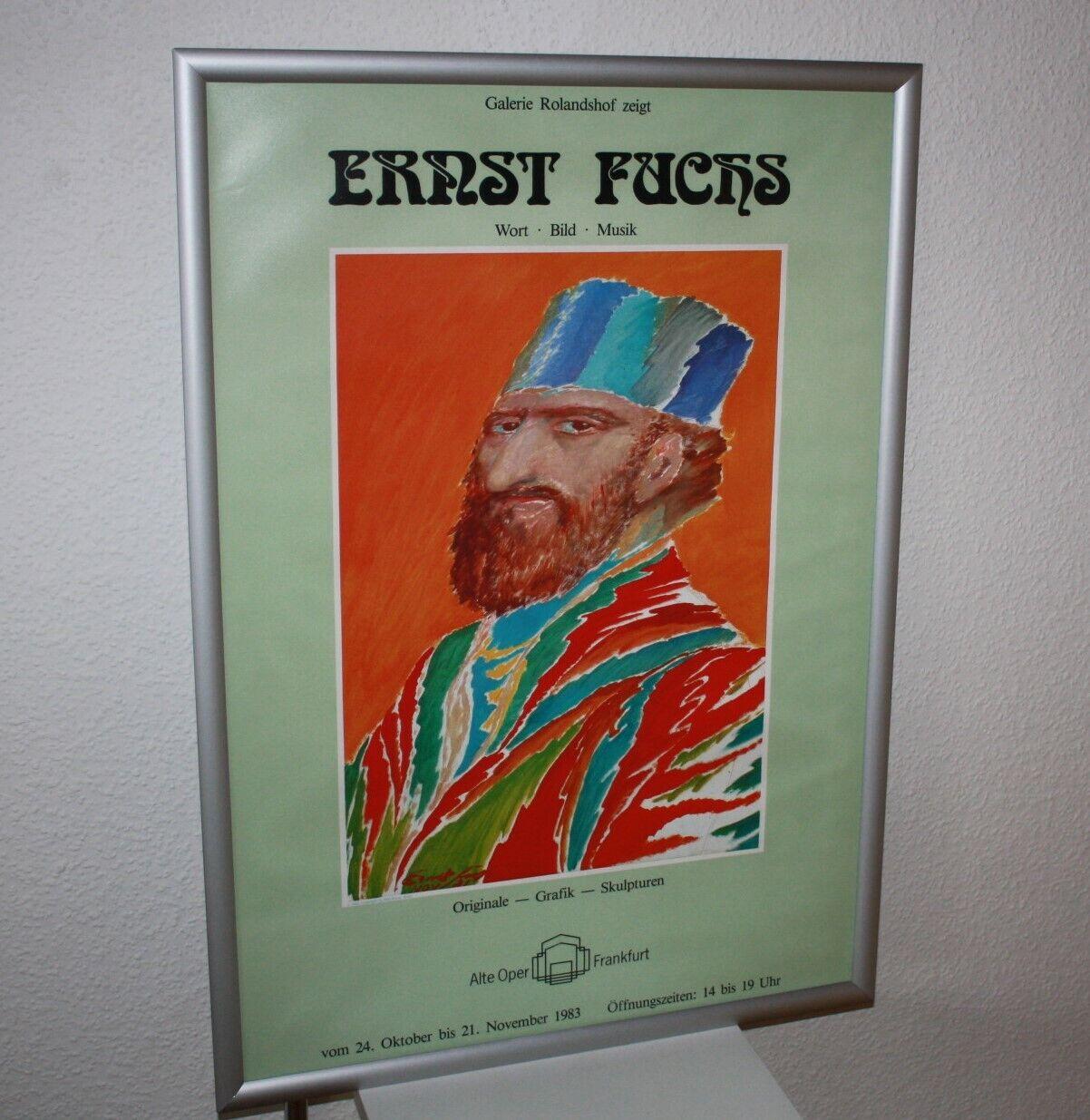 Ernst Fuchs  Grafik Skulpturen Musik Wort Bild 1983 Poster