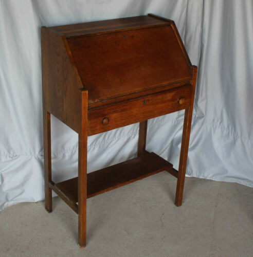 Antique Mission Drop Front Small Desk – Smaller Size - Writing Desk