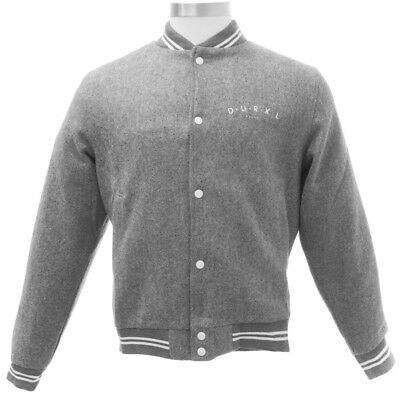 DURKL Men's Heather Grey Junior High Wool Varsity Jacket 2422 $170 NEW - Junior Varsity Jacket
