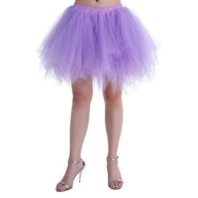 Women's Fluffy Tulle Tutu Bubble Ballet Dance Skirt Classic Costume Petticoat](Costume Tulle Skirt)