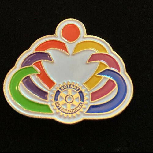 Rotary International Pin REACH WITHIN TO EMBRACE HUMANITY 2011-12 Theme Magnetic