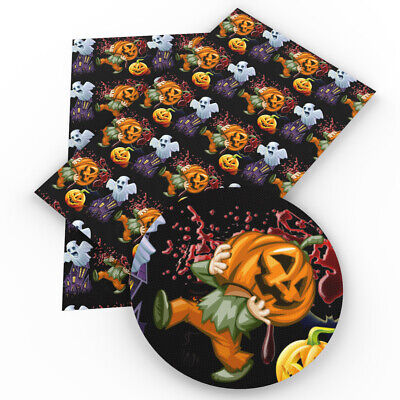 20*34cm Halloween Series Printed Synthetic Leather For Craft Earrings Decor (Halloween Crafts For Children)