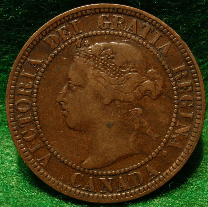 1896 High Grade CANADA LARGE CENT Victoria COIN CANADIAN <.