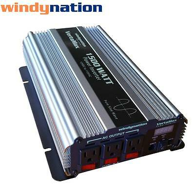 VertaMax 1500 Watt Pure Sine Wave Power Inverter DC to AC Car, RV w/ LCD (1500 Watt Pure Sine Wave Power Inverter)