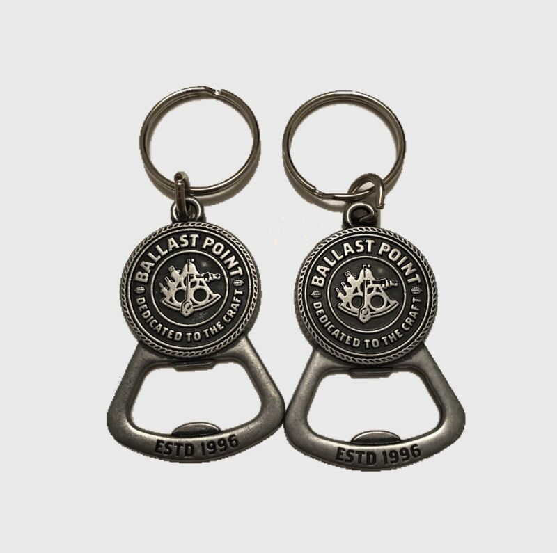 Lot Of 2 Ballast Point Dedicated To The Craft Bottle Opener Keychain