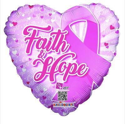 Balloon And Ribbons (Faith And Hope Pink Ribbon 18