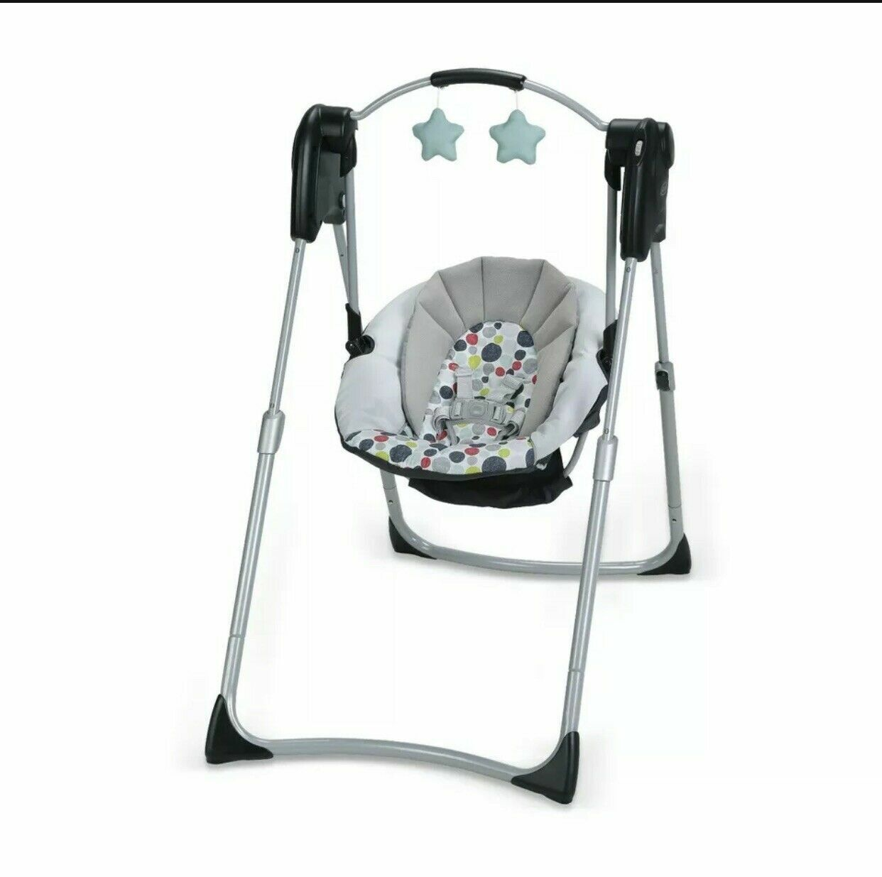 Graco Slim Spaces™ Compact Baby Swing, Space-Saving Design