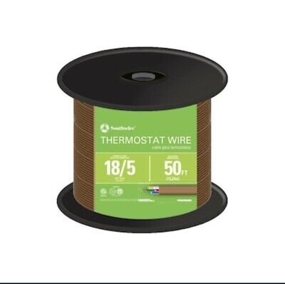 Southwire 64169622 5 Conductor 185 Thermostat Wire 18-gauge Solid 1-pack