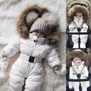 Baby Puffer Onesie Snowsuit Jumpsuit White Sz 12mnths Bexley North Rockdale Area Preview