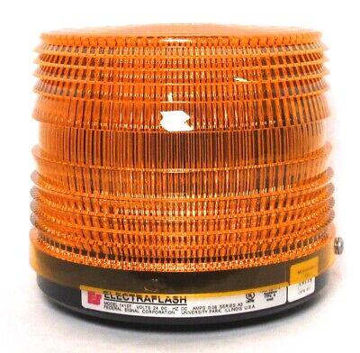 Federal Signal Corp. Electraflash Strobe Warning Light 141st Amber 24vdc New