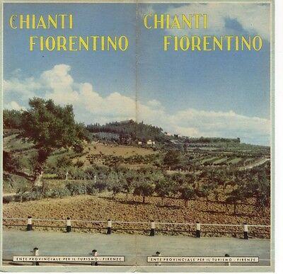 CHIANTI FIORENTINO PIEGHEVOLE TURISTICO ANNI '60