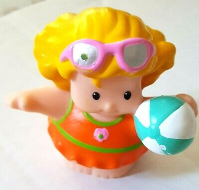 Fisher Price Little People Blond Girl With Sunglasses and Beach (Blonde Girl With Sunglasses)