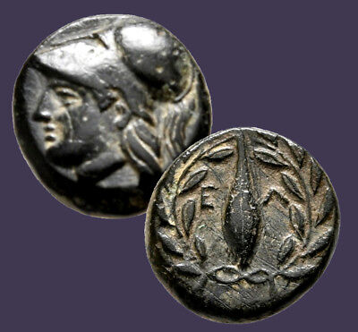 Archaios | Greek Aeolis Elaia Athena / Wreath Grain Ear | AE | 11.6 (Greek Wreath)