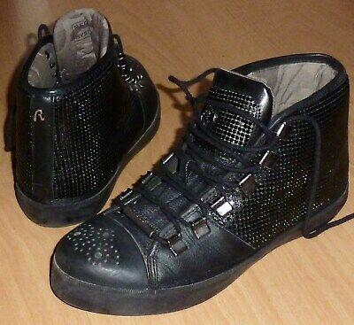 46f1765c228130 Replay Blue Jeans Damen Tani hohe Sneaker Schwarz Gr 38 Top gebraucht  kaufen Karlsruhe