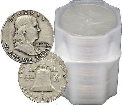 FULL DATES Roll of 20 $10 Face Value 90% Silver Franklin Half Dollars