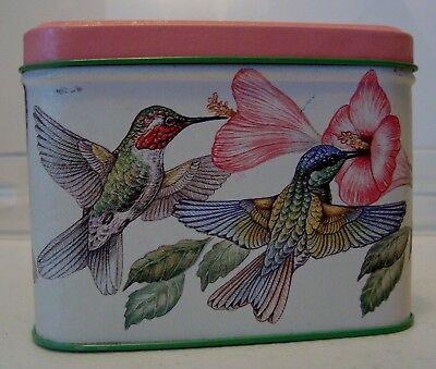 """Tin Humming Bird 4.5"""" x 4.5"""" x 3"""" Potpourri box-G10"""