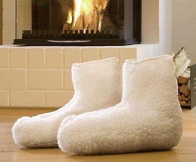 Thermo-Bettschuhe von Wenko  80% Lammfell, 20% Polyester Passend bis Größe 41 ()