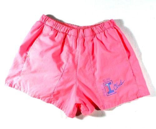 Vintage 90s Primitif I Club Surf Shorts Swim Trunks Mens Neon Pink Nylon