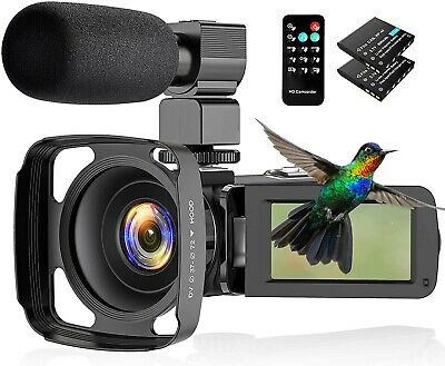 CamVeo 2.7K Video Camera camcorder vlogging camera with powerful zoom and touch
