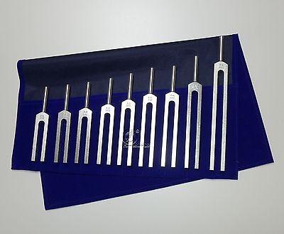 9 Solfeggio Stimmgabeln Set - Stimmgabel Tuningfork Diapason Chakra Phonophorese