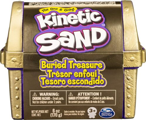 Kinetic Sand, Buried Treasure Playset with 170g of Kinetic Sand and Surprise