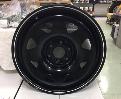 Set of 5 Black Steel Wheels