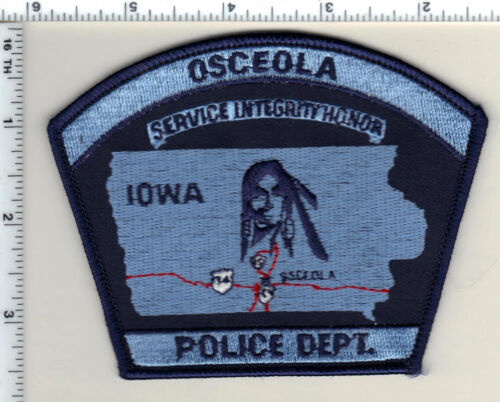 Osceola Police (Iowa)  Shoulder Patch - new from 1990
