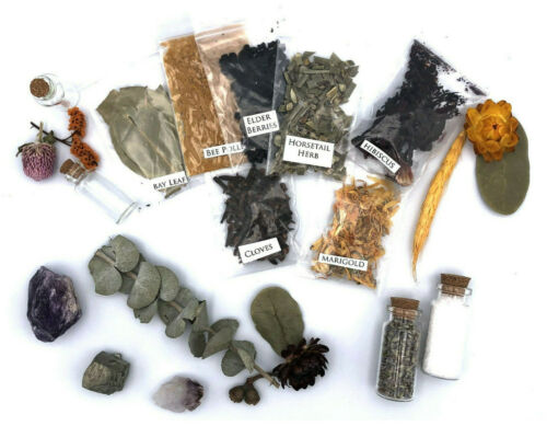 Set Of 10 Random Assorted Herbs Wicca Witchcraft Spells Metaphysical Supplies