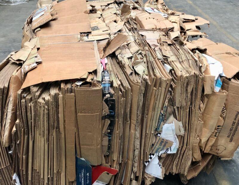Baled Cardboard Bundle 1057 Lb