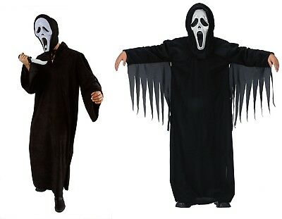 Schrei Geist  Herren Kostüm Kinder Jungen Kostüm Halloween Horror mit Maske