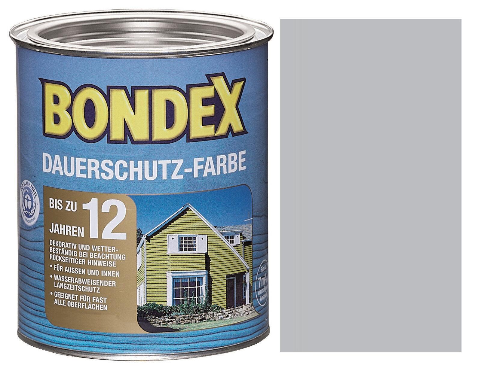 bondex dauerschutzfarbe silbergrau 750ml dauerschutz farbe holzfarbe holzschutz ebay. Black Bedroom Furniture Sets. Home Design Ideas