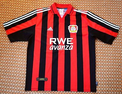 2001 - 2002 Bayer Leverkusen, Home Football Shirt by Adidas, Mens XL image
