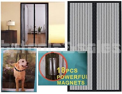 "82"" x 40"" Portable Magnetic Magic Mesh Hands-Free Screen Sliding Doors Patio RVs"