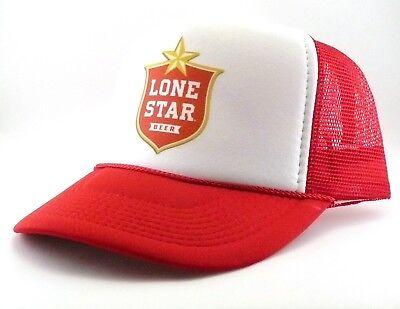 6307497c1bd37 vintage Lone Star Beer Trucker Hat mesh hat snapback hat red new beer hat