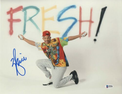 WILL SMITH SIGNED 'FRESH PRINCE OF BEL-AIR' 11X14 PHOTO AUTHENTIC AUTO BECKETT