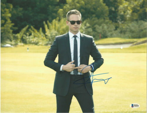 PATRICK J ADAMS SIGNED 11X14 PHOTO SUITS BECKETT BAS AUTOGRAPH AUTO A