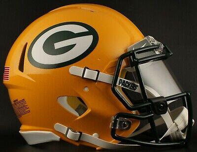 7cf64e63 GREEN BAY PACKERS NFL Football Helmet with Nike CLEAR Visor / Eye Shield