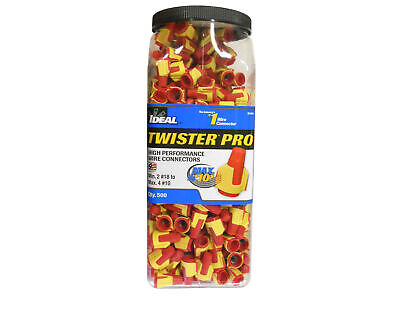 Ideal 30-644j Twister Pro 344 Wire Connector Redyellow 18-10 Jug Of 500