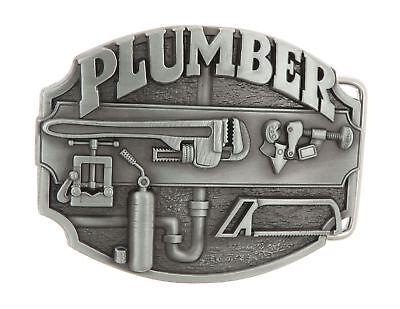 Plumber Tradesman Metal Belt Buckle