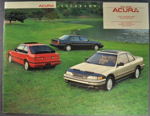 1988 Acura Accessories Catalog Brochure Integra Legend Nice Original 88