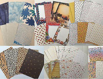 Cherry Scrapbooking Paper - Lot Scrapbook Paper 8.5 x 11 Misc. Paper 50 Sheets Sports Cherries Cactus Water
